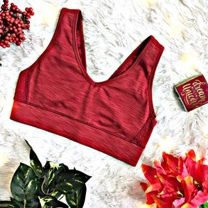 ⬇️$40 Nanette Lepore Red Solid Sports Bra w/ Mesh